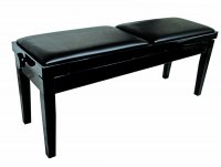 AMS KTW17 Duet Piano Wooden Bench 2 Height Adjustable Seats