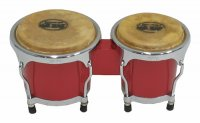 MP Junior Tunable Bongos 4inch and 5 inch Red