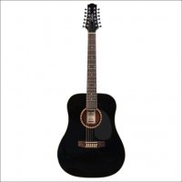 Ashton D25/12 12-String Acoustic Guitar Black