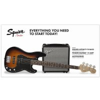 Fender Squier Precision Bass Pack with Rumble 15 Sunburst