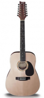 Ashton D25/12 12-String Acoustic Guitar Natural Matte