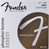 Fender 60CL 11-52 Phosphor Bronze Acoustic Guitar Strings