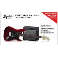Fender Squier Stratocaster Pack HSS 15G Candy Apple Red