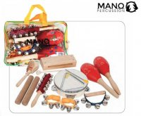 Mano UE633 Percussion 9 Piece Percussion Pack in Clear Case