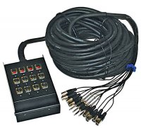 AMS MC124 16 Channel Multicore Audio Snake 30m