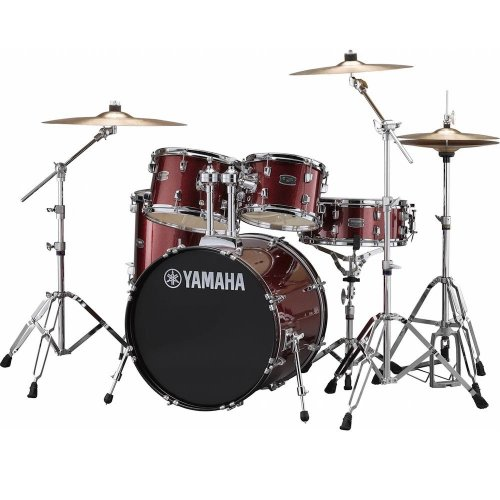 yamaha rydeen acoustic drum kit 22 burgundy stool and cymbals rydeurbgg the music. Black Bedroom Furniture Sets. Home Design Ideas