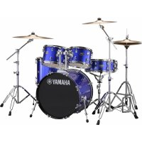 "Yamaha Rydeen Acoustic Drum Kit 22"" Blue with Stool and Cymbals"