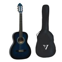 Valencia 1/4 Size Classical Guitar Pack BLUE