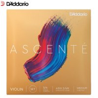 Daddario Ascente Violin Strings Set 3/4 Size Scale Medium