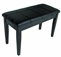AMS KTW12 Piano Stool Wooden Bench Polished ebony