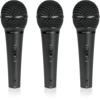 Behringer XM1800S 3 Dynamic Cardioid Vocal Microphones