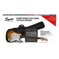 Fender Squier Electric Guitar Starter Package Brown Sunburst