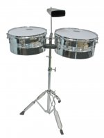 MP Latin Timbales Set With Cow Bell Chrome
