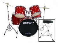 DXP TX04PTDR Drum Rock Kit With Stool and Cymbals