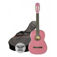 Ashton 3/4 Size Classical Guitar Pack PINK