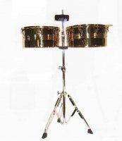 MP Latin Timbales Set With Cow Bell Gold