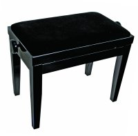 AMS KTW14V Piano Stool Wooden Bench Velvet Padded Seat