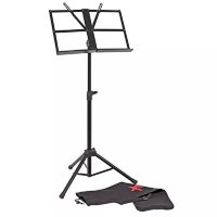 Xtreme MS88 Heavy Duty Black Music Stand Fold Up