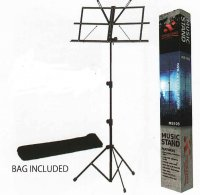 Xtreme MS105 Black Music Stand with Bag