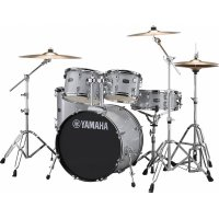 Yamaha Rydeen Acoustic Drum Kit 22 inch Silver Stool and Cymbals