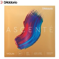 Daddario Ascente Violin Strings Set 1/4 Size Scale Medium