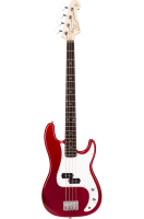 SX Bass Guitar 4 String PB Style Candy Apple Red