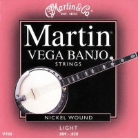 Vega Banjo Strings Nickel Wound Light 9-20