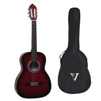 Valencia 1/4 Size Classical Guitar Pack RED