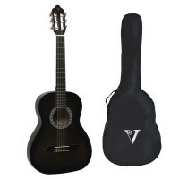Valencia 1/4 Size Classical Guitar Pack BLACK