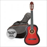 Ashton 3/4 Size Classical Guitar Pack RED