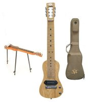 SX LG22N Lap Steel Natural W/Bag and Stand