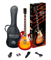 SX SE3SK Electric Guitar Pack LP Style Cherry Sunburst