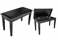 AMS KTW11 Piano Stool Wooden Bench Polished ebony