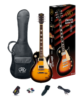SX SE3SK Electric Guitar Pack LP Style Vintage Sunburst