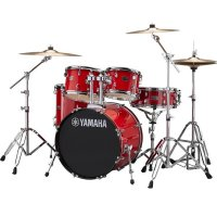 "Yamaha Rydeen Acoustic Drum Kit 22"" Red with Stool and Cymbals"