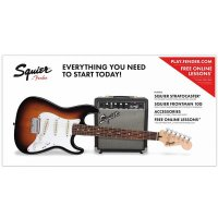 Fender Squier Stratocaster Pack Short Scale 10G Brown Sunburst