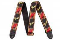 Fender 2inch Monogrammed Strap Black/Yellow/Red