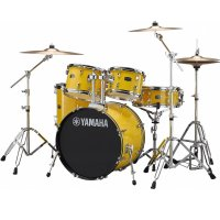 "Yamaha Rydeen Acoustic Drum Kit 22"" Yellow with Stool & Cymbals"