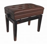 AMS KTW15W Piano Stool Wooden Bench Height Adjustable Storage