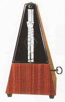 Wittner Pyramid Mechanical Metronome Mahogany Grian