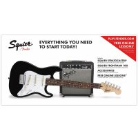 Fender Squier Stratocaster Pack Short Scale 10G Black