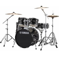 "Yamaha Rydeen Acoustic Drum Kit 22"" Black with Stool and Cymbals"