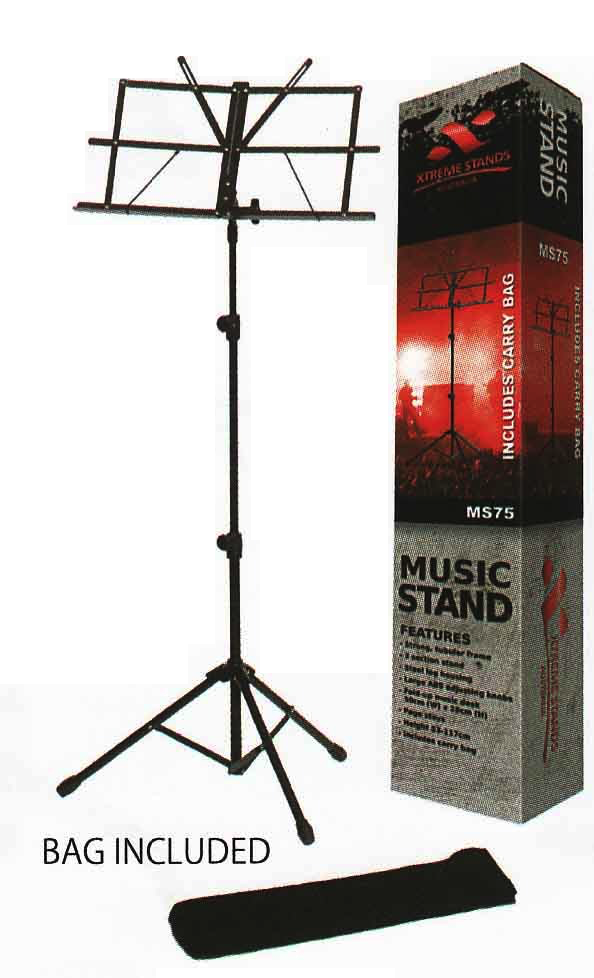 Xtreme MS75 Heavy Duty Music Stand With Bag